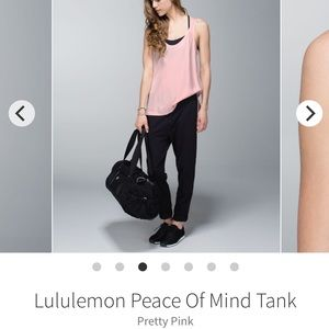 "LULULEMON ""peace of mind"" tank size 8 pretty pink"